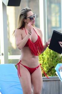 Jennifer Nicole Lee Red Bikini Photos 08