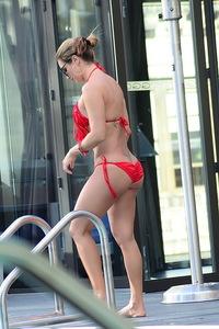 Jennifer Nicole Lee Red Bikini Photos 12