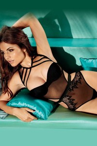 Beautiful Brunette Lingerie Model Diana Morales 13