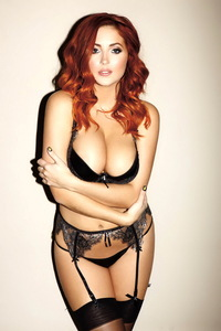 Redhead Beauty Lucy Collett Shows Her Nice Big Boobs 00