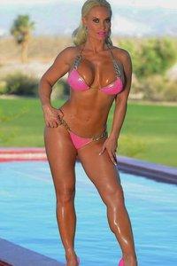 Curvy Blond Nicole Austin In Sexy Pink Bikini 03