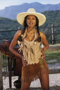 Traci Bingham Stripping Her Tiny Indian Outfit 01