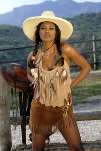 Traci Bingham Stripping Her Tiny Indian Outfit 02