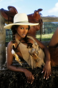 Traci Bingham Stripping Her Tiny Indian Outfit 05