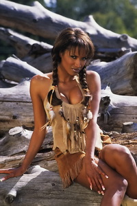 Traci Bingham Stripping Her Tiny Indian Outfit 06