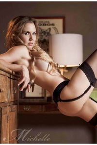 Amazing Blonde Michelle Vieth Lingerie Photo Gallery 05