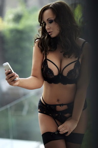 Chanelle Hayes In Sexy Black Lingerie 00