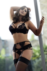 Chanelle Hayes In Sexy Black Lingerie 01
