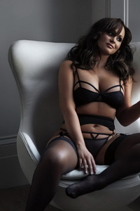 Chanelle Hayes In Sexy Black Lingerie 11