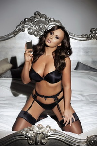Chanelle Hayes In Sexy Black Lingerie 13