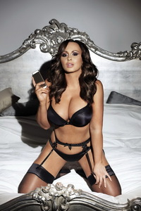 Chanelle Hayes In Sexy Black Lingerie 14
