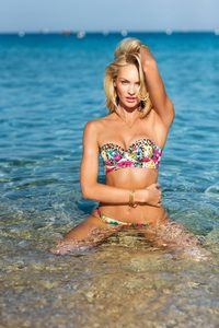 Candice Swanepoel Victoria's Secret Swim 2014 Photoshoot 01