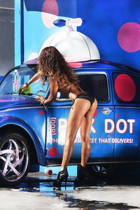 Fernanda Marin Black Bikini Car Wash 02
