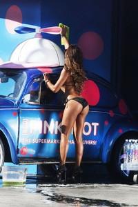 Fernanda Marin Black Bikini Car Wash 04