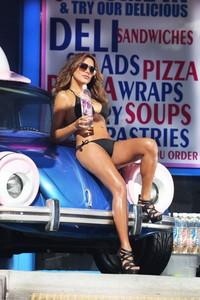 Fernanda Marin Black Bikini Car Wash 10
