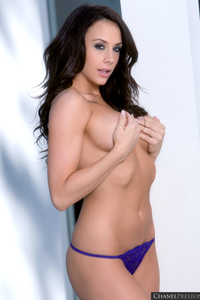 Chanel Preston Drops Her Sexy Purple Lingerie 10