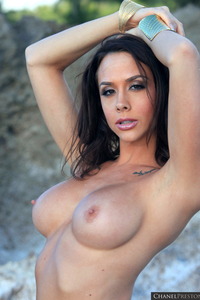 Lovely Babe Chanel Preston Naked At The Beach 02