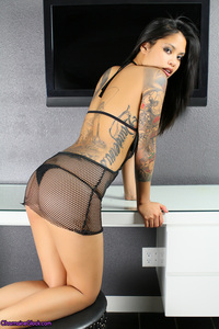 Charmaine Glock Hot Fishnet Dress 12