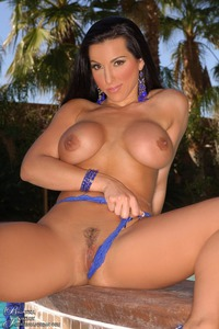 Brianna Jordan Plays With Two Dildos By The Pool 08