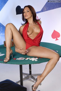 Zoe Britton Spreads On Poker Table 06