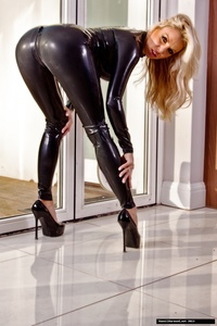 Dannii Harwood Black Leather Outfit 10