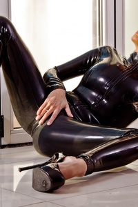 Dannii Harwood Black Leather Outfit 14