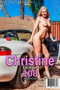 Christine Posing Naked By A Car 00