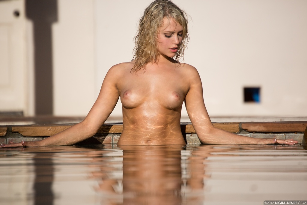 Lovely Blonde Mia Malkova Drops Her Blue Bikini In The Pool 06