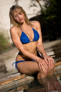 Lovely Blonde Mia Malkova Drops Her Blue Bikini In The Pool 05