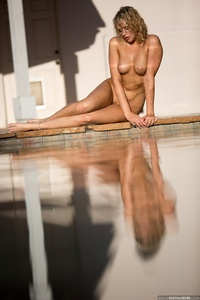 Lovely Blonde Mia Malkova Drops Her Blue Bikini In The Pool 11