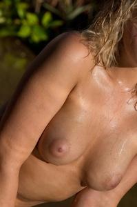 Lovely Blonde Mia Malkova Drops Her Blue Bikini In The Pool 15
