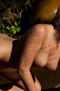 Lovely Blonde Mia Malkova Drops Her Blue Bikini In The Pool 16