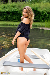 Brunette Gina Boat Trip 01