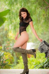 Adria Rae Posing Sensual In The Garden 06