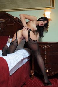 Riccarda A Posing In Special Black Stockings 00