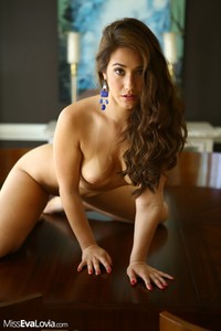 Sexy Eva Lovia Gets Nude On A Table 05