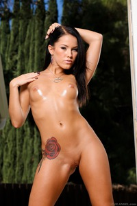 Hot Tattooed Babe Megan Rain Perfect Round Ass 06
