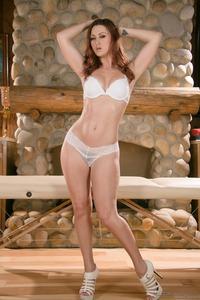Karlie Montana Shines In White Lingerie 01