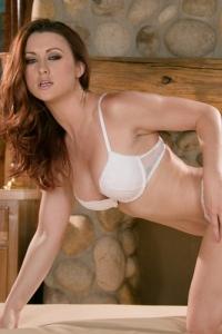 Karlie Montana Shines In White Lingerie 04