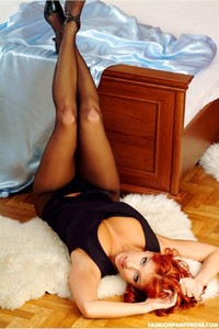 Sexy Redhead Jane Posing In Pantyhose 11