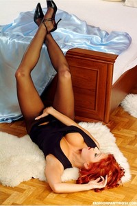 Sexy Redhead Jane Posing In Pantyhose 12