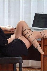 Blonde Babe In Hot Pantyhose 03