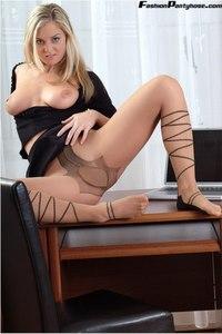 Blonde Babe In Hot Pantyhose 12