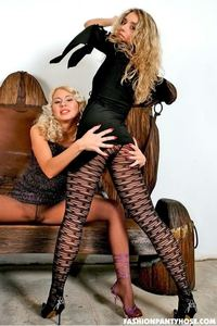 Blondes Shows Their Sexy Asses In Pantyhose 01