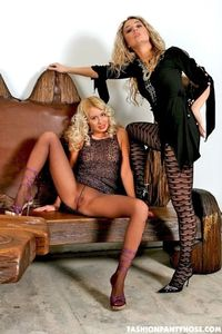 Blondes Shows Their Sexy Asses In Pantyhose 04