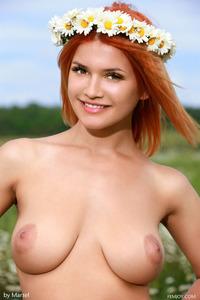 Dina White Teen Flower 04