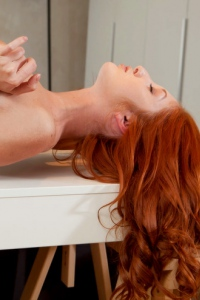 Redhead Foxy T Threw Down Her Jeans Short 05