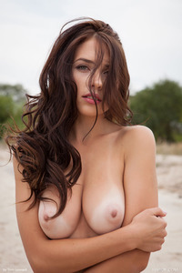 Brunette Model Niemira Getting Nude On The Beach 20
