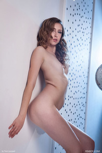 Hot Brunette Dara Posing Nude After A Big Party 13