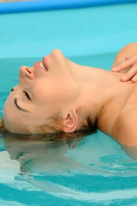 Blonde Babe Ella C Poolside 08